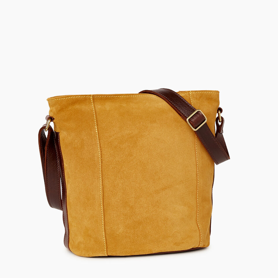 Roots-Leather New Arrivals-Victoria Bucket Suede-Squash Yellow-A