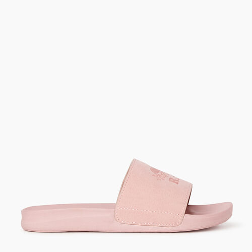Roots-Footwear Categories-Womens Long Point Slide-Pink-A