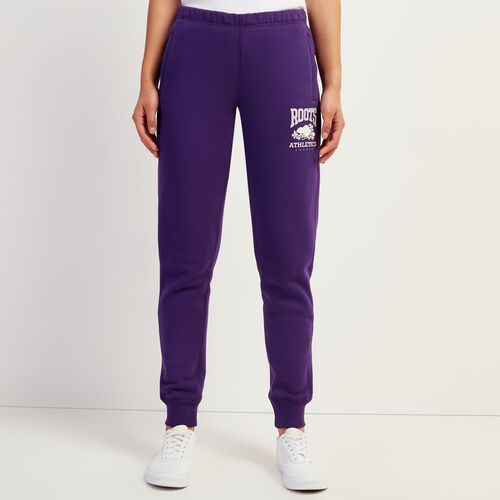 Roots-Women Slim Sweatpants-RBA Slim Cuff Sweatpant-Acai-A