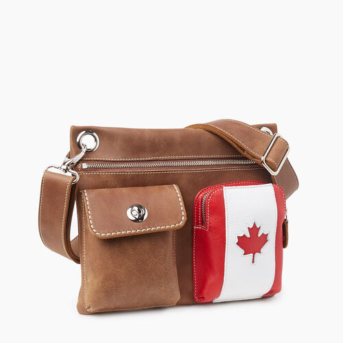 Roots-Women Crossbody-Canada Village Bag Tribe-Natural-A