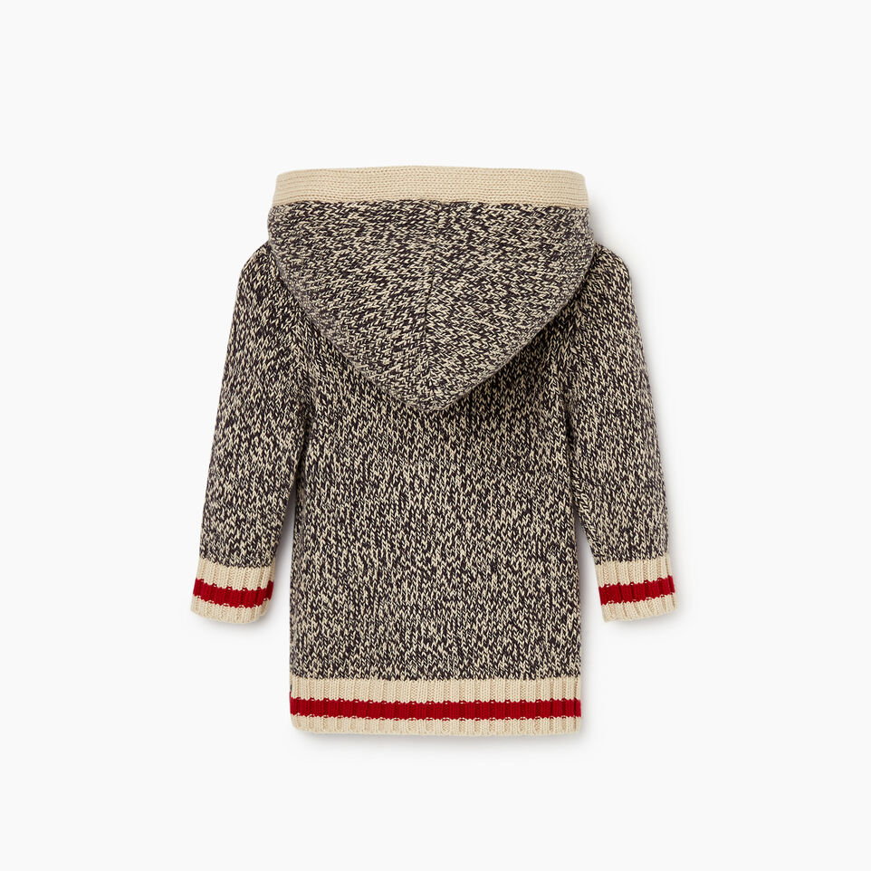 Roots-Kids Baby Girl-Baby Roots Cabin Cardigan-Grey Oat Mix-B