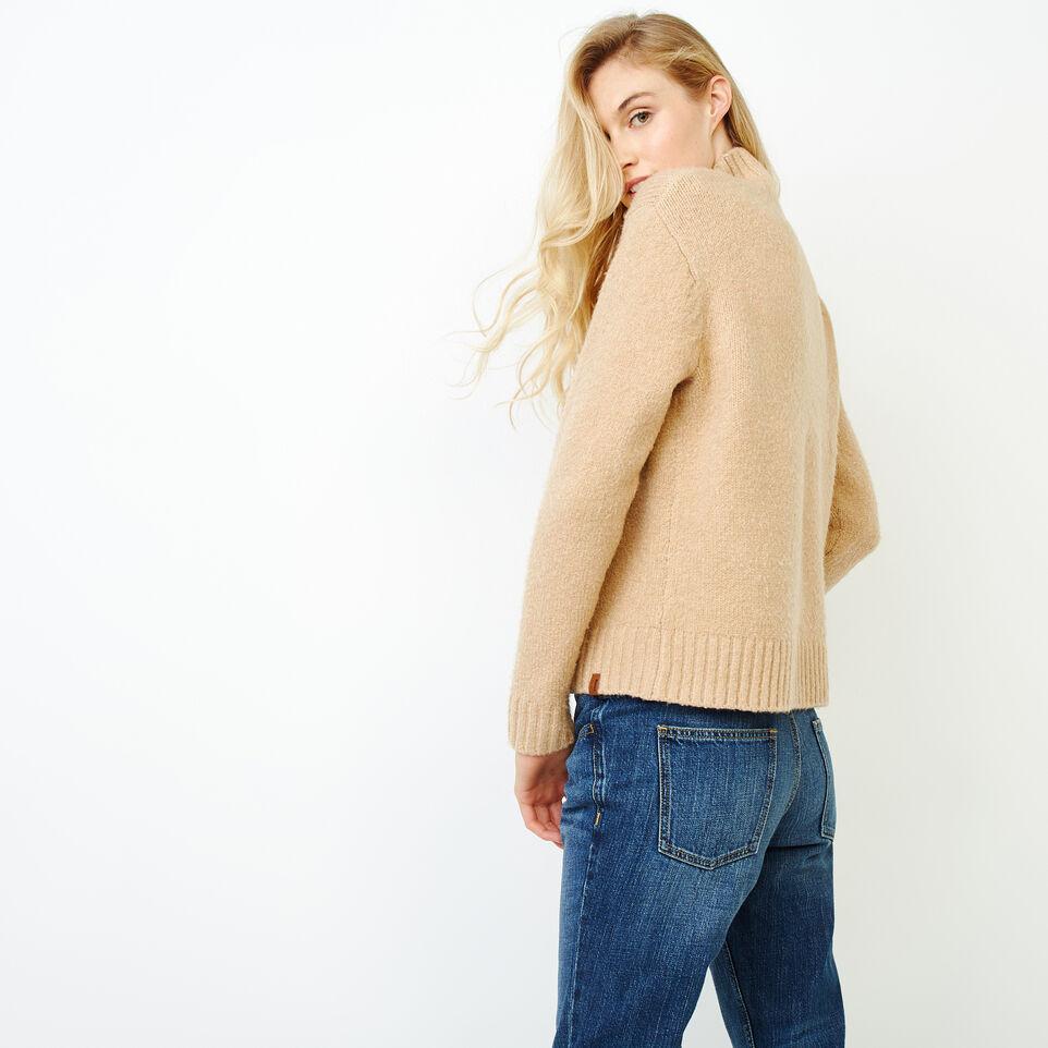 Roots-Women Tops-Nita Cable Sweater-Camel-D