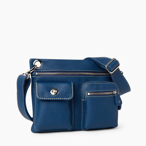 Roots-Women Crossbody-Village Bag Parisian-Insignia Blue-A