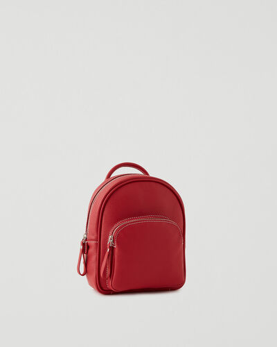 Roots-Leather Backpacks-Mini Chelsea Pack Cervino-Lipstick Red-A