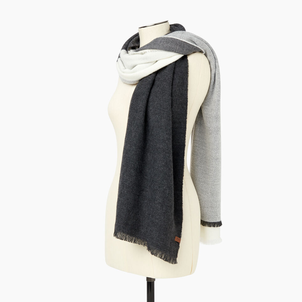 Roots-Sale Women-Arnaud Scarf-Charcoal Mix-C