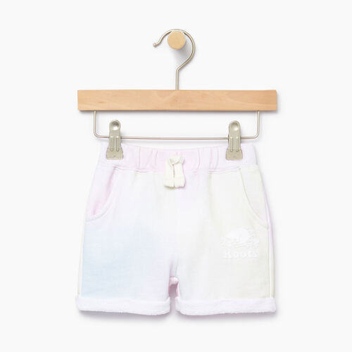 Roots-Kids Bottoms-Baby Watercolour Short-Ivory-A