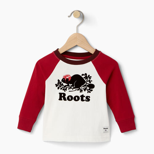 Roots-Winter Sale Baby-Baby Hockey Buddy Raglan T-shirt-Cloudy White-A