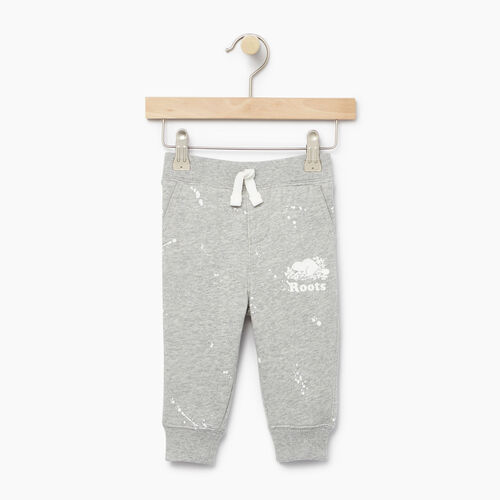 Roots-Clearance Baby-Baby Splatter Sweatpant-Grey Mix-A