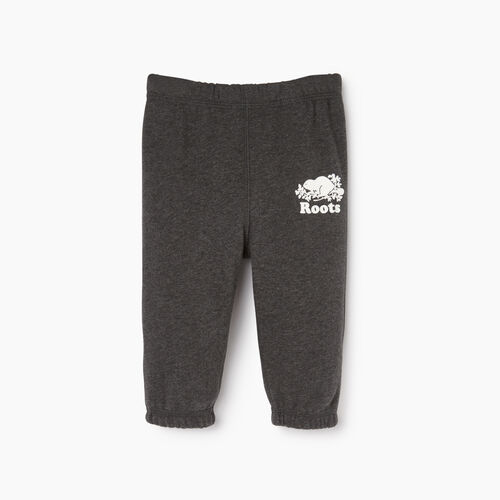 Roots-Kids Categories-Baby Original Sweatpant-Charcoal Mix-A