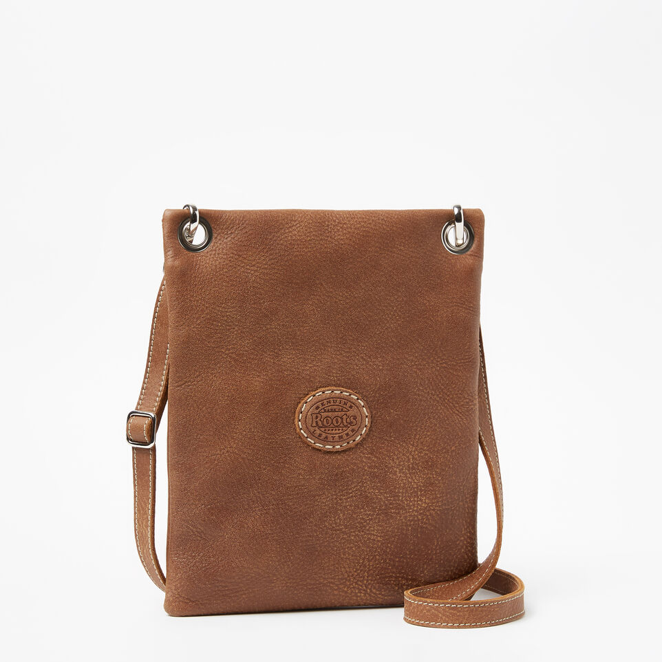 Roots-Leather Handbags-Urban Pouch Tribe-Natural-C
