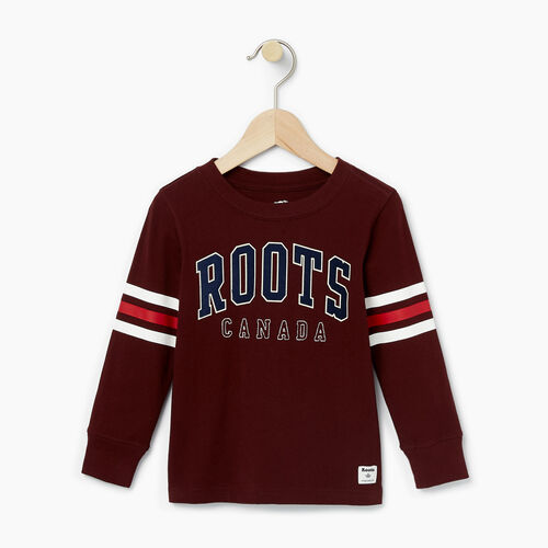 Roots-Kids T-shirts-Toddler Arch Roots Top-Crimson-A