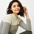 Roots-Women Sweaters & Cardigans-Arbutus Twill Sweater-Salt & Pepper-E
