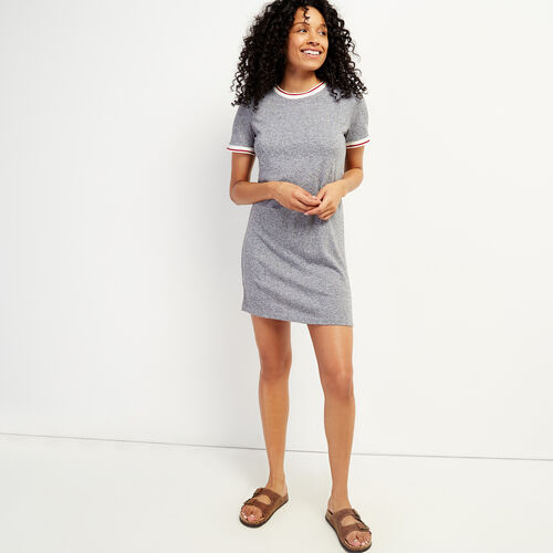 Roots-Women Dresses & Jumpsuits-Cabin Ringer Dress-Salt & Pepper-A