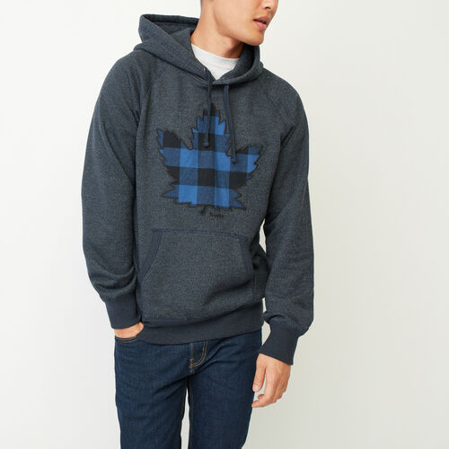 Roots-Winter Sale Men-Canuck Pepper Kanga Hoody-Navy Blazer Pepper-A