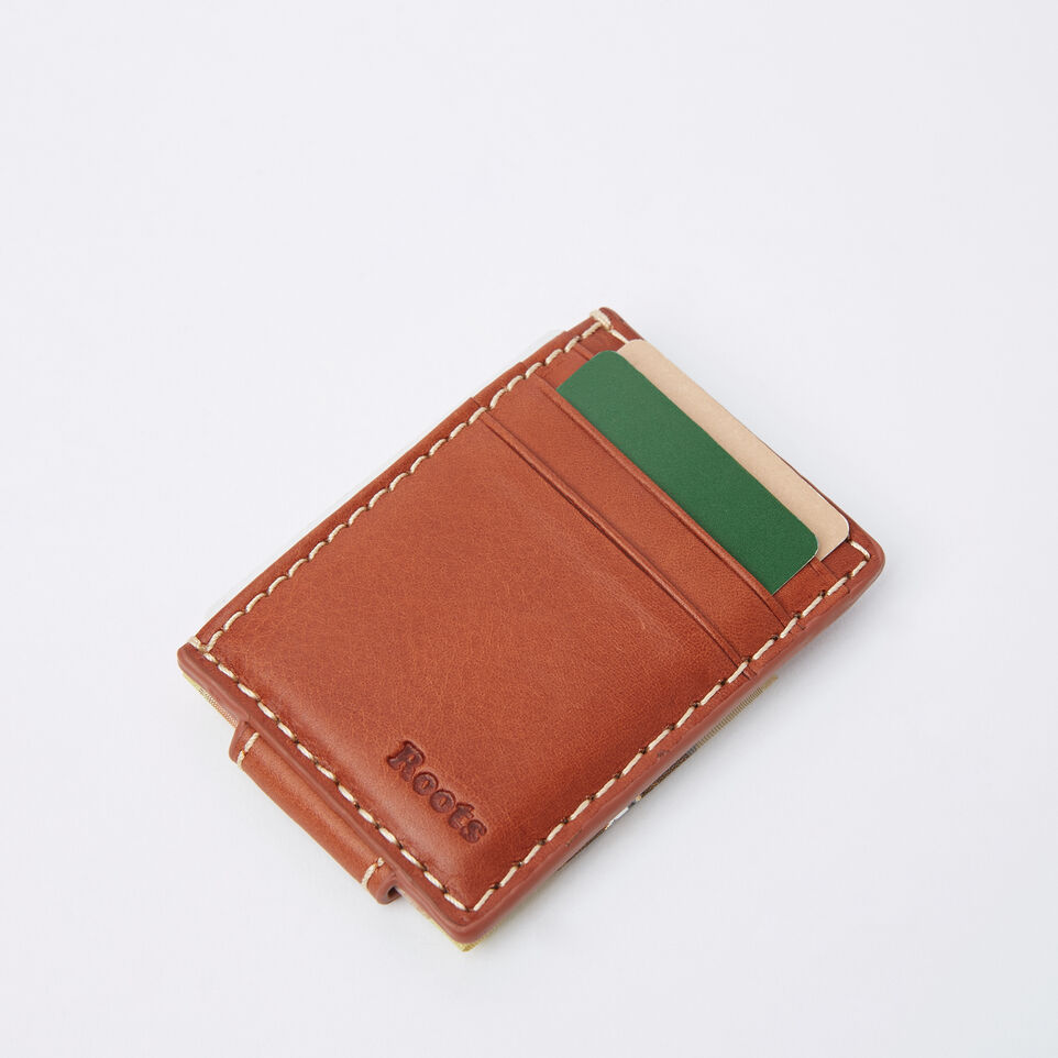 Roots-undefined-Mens Money Clip Card Holder Veg-undefined-F