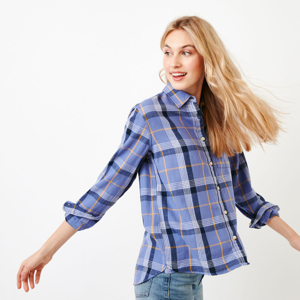 Roots-Women Our Favourite New Arrivals-All Seasons Relaxed Shirt-Violet Storm-C