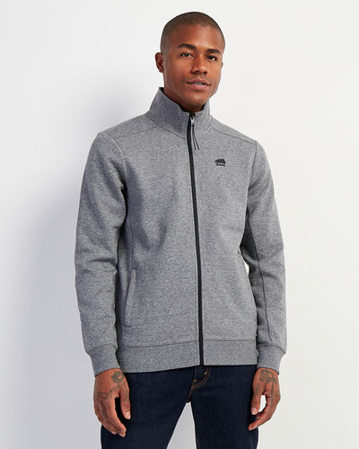 Roots-Men Sweatshirts & Hoodies-Journey Track Jacket-Salt & Pepper-A