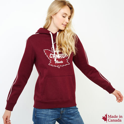 Roots-Women Sweatshirts & Hoodies-Womens Canada Kanga Hoody-Northern Red-A