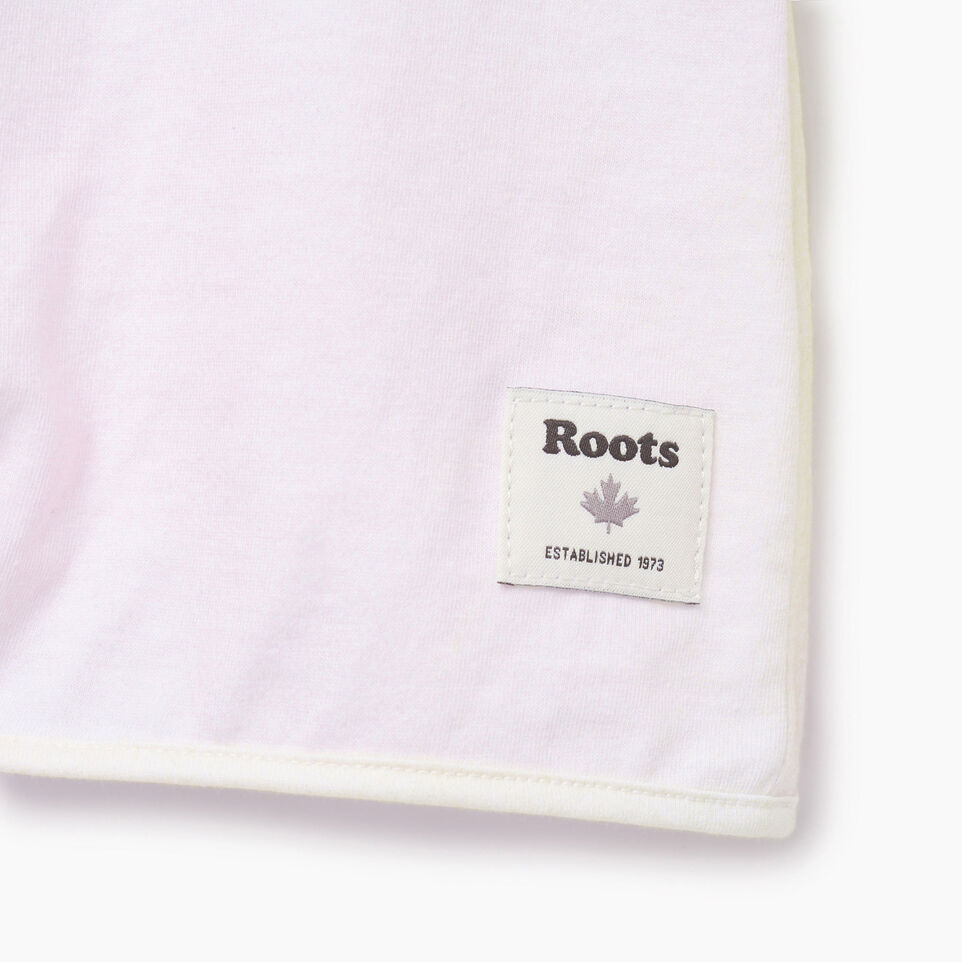 Roots-Clearance Kids-Girls Watercolour Tie T-shirt-Ivory-E