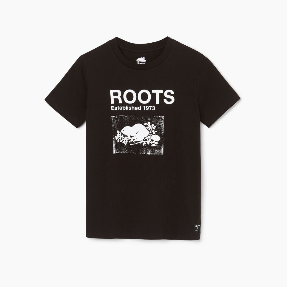 Roots-Women Clothing-Womens Canmore T-shirt-Black-A