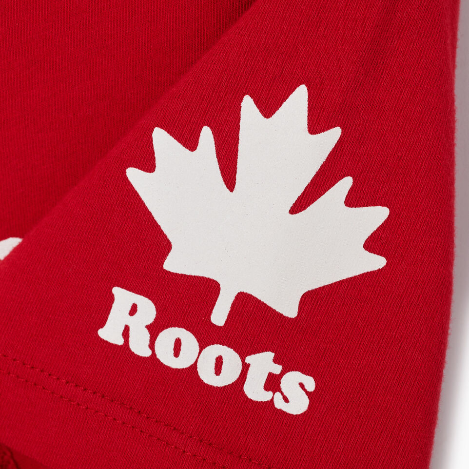 Roots-New For July Women-Womens Cooper Canada T-shirt-Sage Red-E