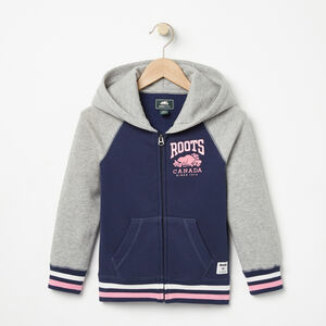 Roots-Kids Girls-Girls RBC Varsity Full Zip Hoody-Cascade Blue-A