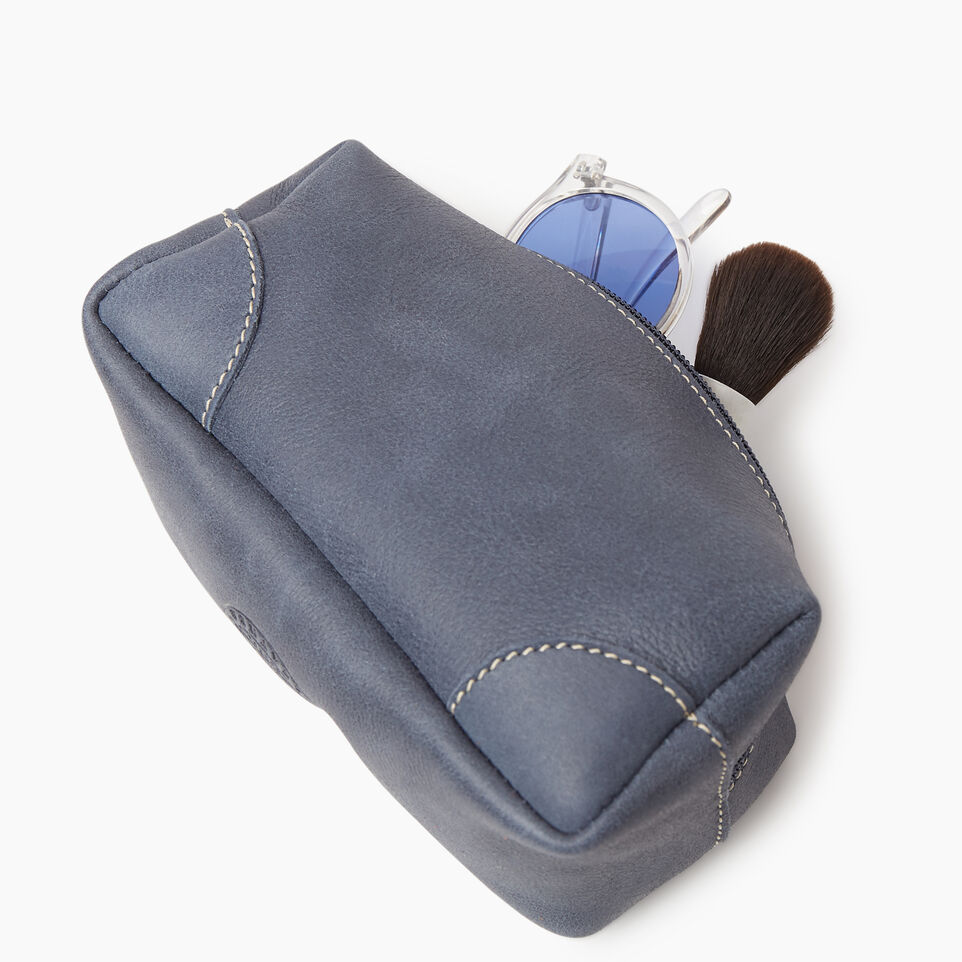 Roots-Leather New Arrivals-Small Banff Pouch Tribe-Navy-C