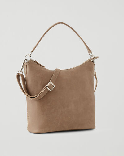 Roots-Leather Leather Bags-Ella Bag Tribe-Sand-A