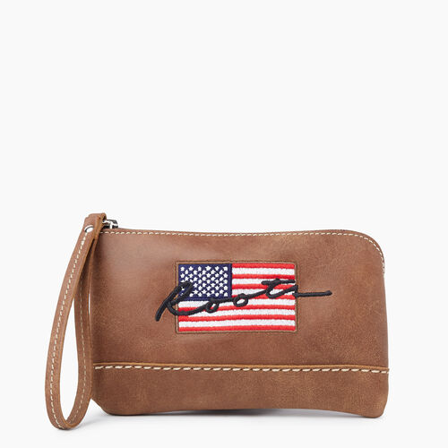 Roots-New For November Script Collection - Additional 40% Off-Script USA Zip Pouch Tribe-Natural-A