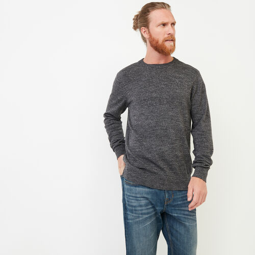 Roots-Men Sweaters & Cardigans-All Seasons Crew Sweater-Black Mix-A