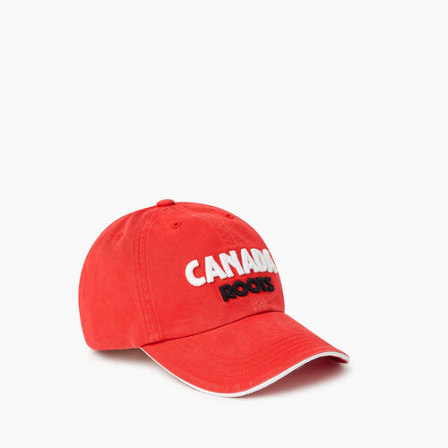Roots-Men Accessories-Roots Canada Baseball Cap-Red-A