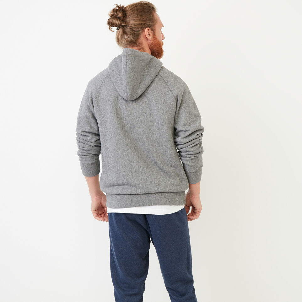 Roots-Men Our Favourite New Arrivals-Stamps Zip Hoody-Med Grey Mix-D