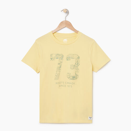 Roots-Women Graphic T-shirts-Womens 73 T-shirt-Lemon Meringue-A
