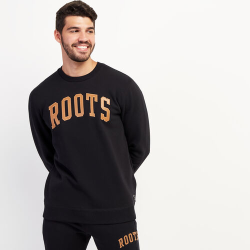 Roots-Gifts Gifts For Him-Roots Arch Crew Sweatshirt-Black-A