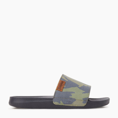 Roots-Sale Footwear-Mens Long Point Camo Slide-Fatigue-A