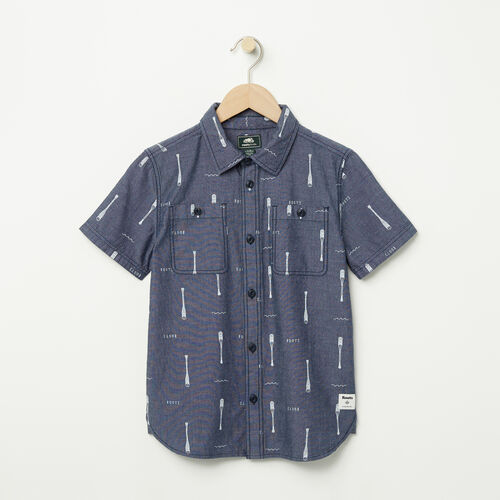 Roots-Sale Boys-Boys Chambray Utility Shirt-Denim Mix-A