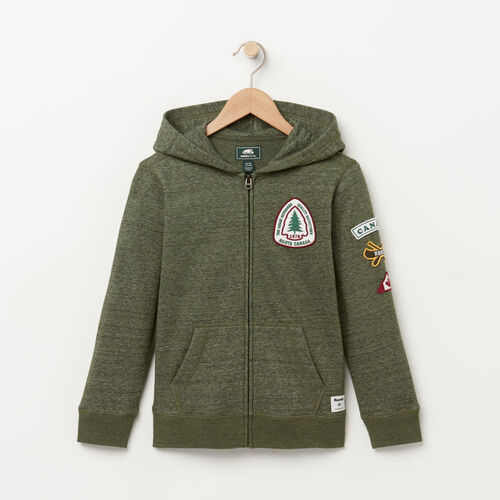 Roots-Kids Sweats-Boys Patches Hoody-Climbing Ivy Pepper-A