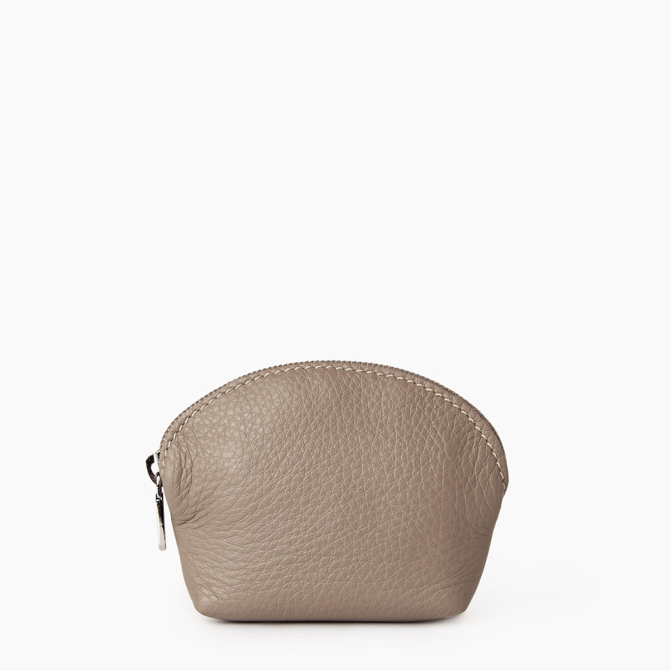 Roots-Leather Categories-Small Euro Pouch-Flint Grey-A