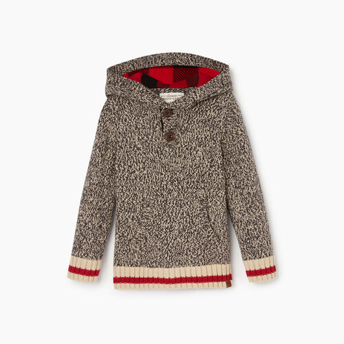 Roots-Kids Toddler Boys-Toddler Roots Cabin Sweater Hoody-Grey Oat Mix-A
