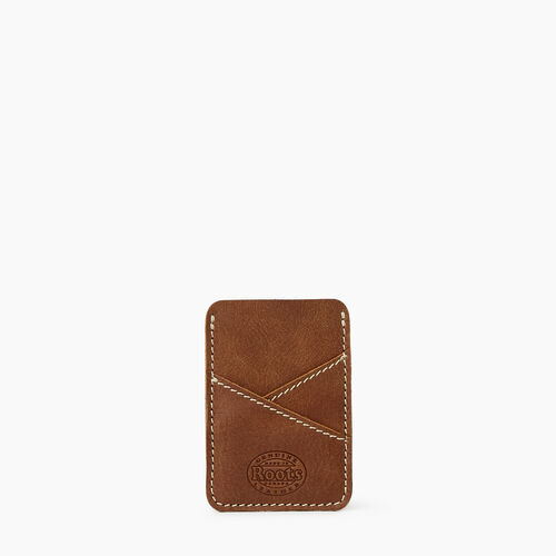 Roots-Leather Leather Accessories-Diagonal Card Holder Tribe-Natural-A