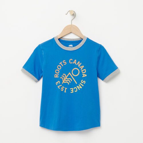 Roots-Sale Boys-Boys Vintage Ringer T-shirt-Palace Blue-A