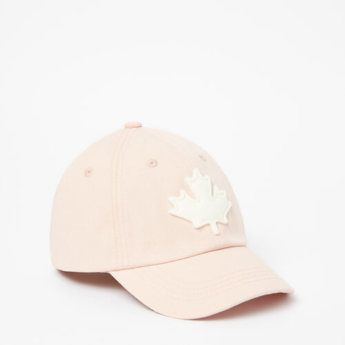 Roots-Clearance Kids-Toddler Canada Leaf Baseball Cap-Pale Blush-A