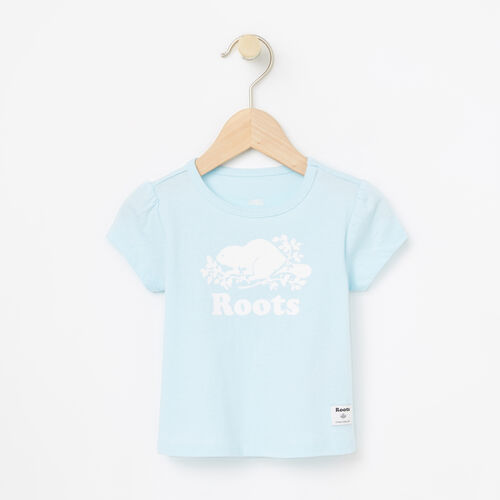 Roots-Kids Bestsellers-Baby Cooper Beaver Puff T-shirt-Corydalis Blue-A