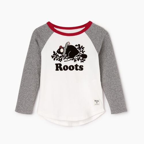Roots-Sale Kids-Toddler Buddy Raglan T-shirt-Salt & Pepper-A