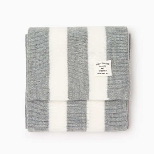 Roots-Men Our Favourite New Arrivals-Collegiate Scarf-Grey Mix-A