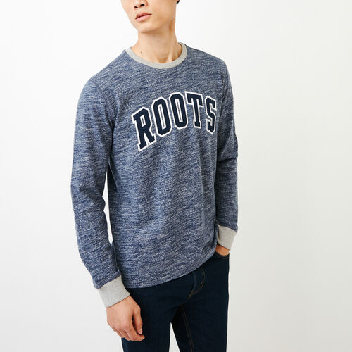 Roots-Men Our Favourite New Arrivals-10oz Heavy Jersey Long Sleeve Top-Sargasso Sea Ppr-A