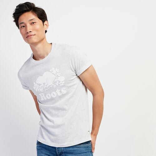 Roots-Men New Arrivals-Mens Cooper Beaver T-shirt-White Mix-A
