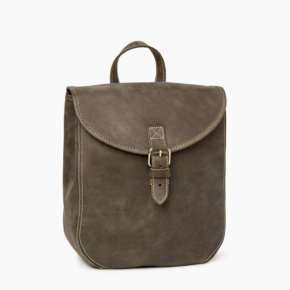 Roots-Leather  Handcrafted By Us Our Favourite New Arrivals-Little Nells Backpack-Pine-A