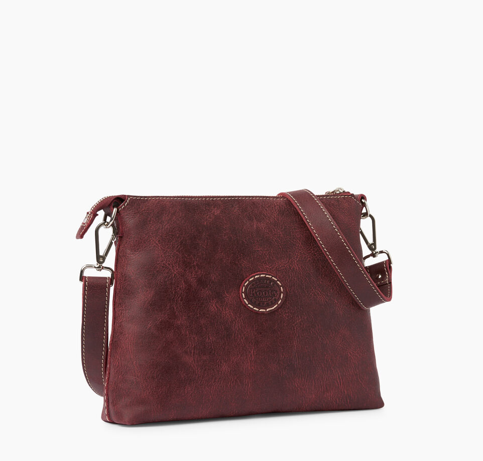 Roots-Clearance Leather-The Villager Tribe-Crimson-C