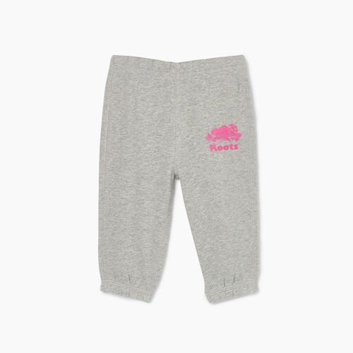 Roots-Kids Bottoms-Baby Original Roots Sweatpant-Grey Mix-A